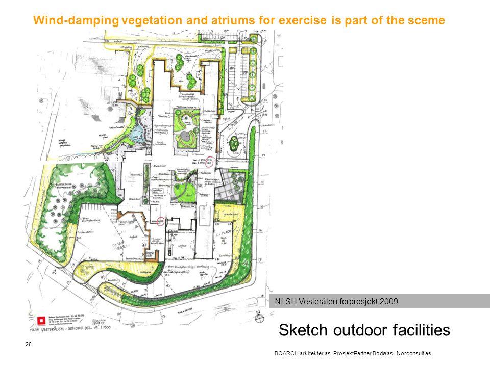 Sketch outdoor facilities