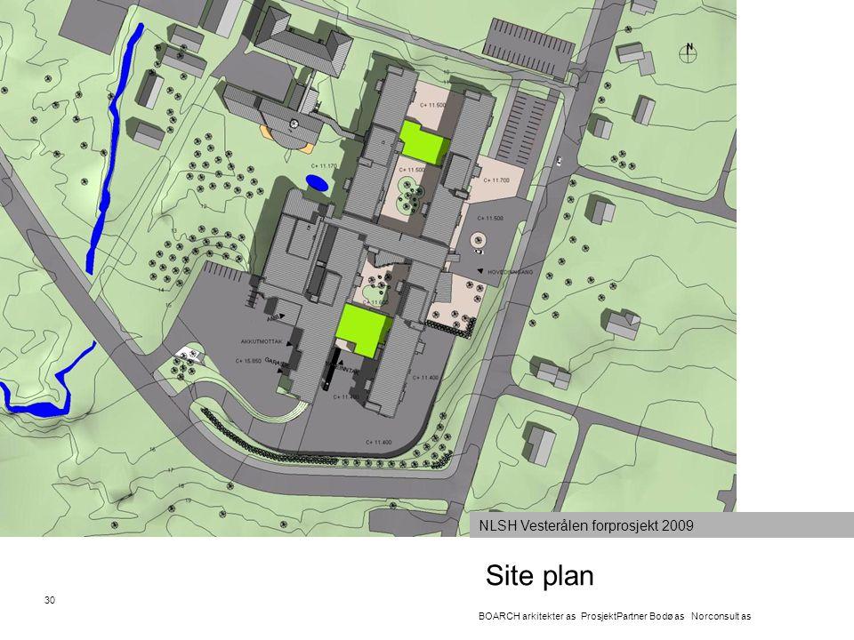 Site plan NLSH Vesterålen forprosjekt 2009 30