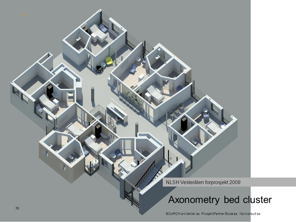 Axonometry bed cluster