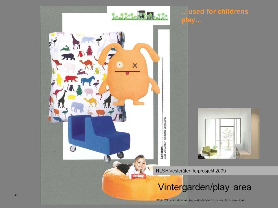 Vintergarden/play area