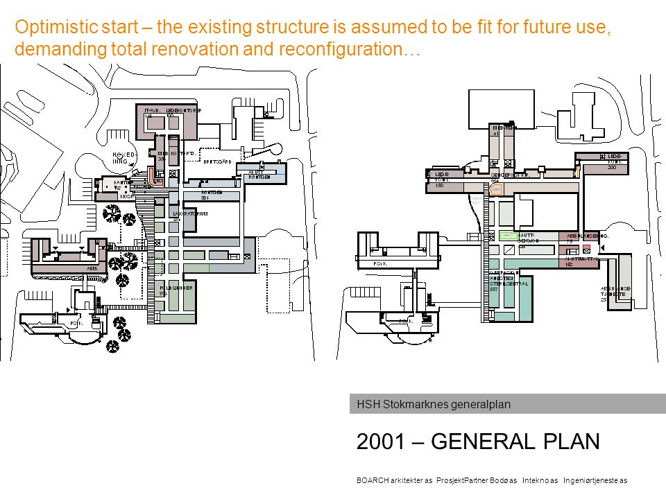 Optimistic start – the existing structure is assumed to be fit for future use, demanding total renovation and reconfiguration…