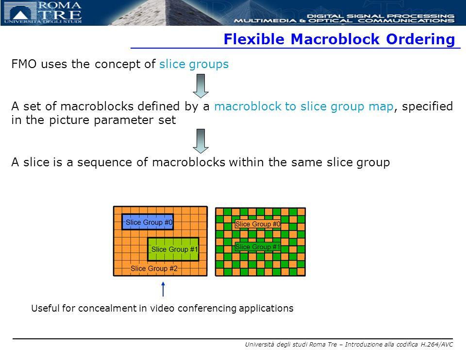 Flexible Macroblock Ordering