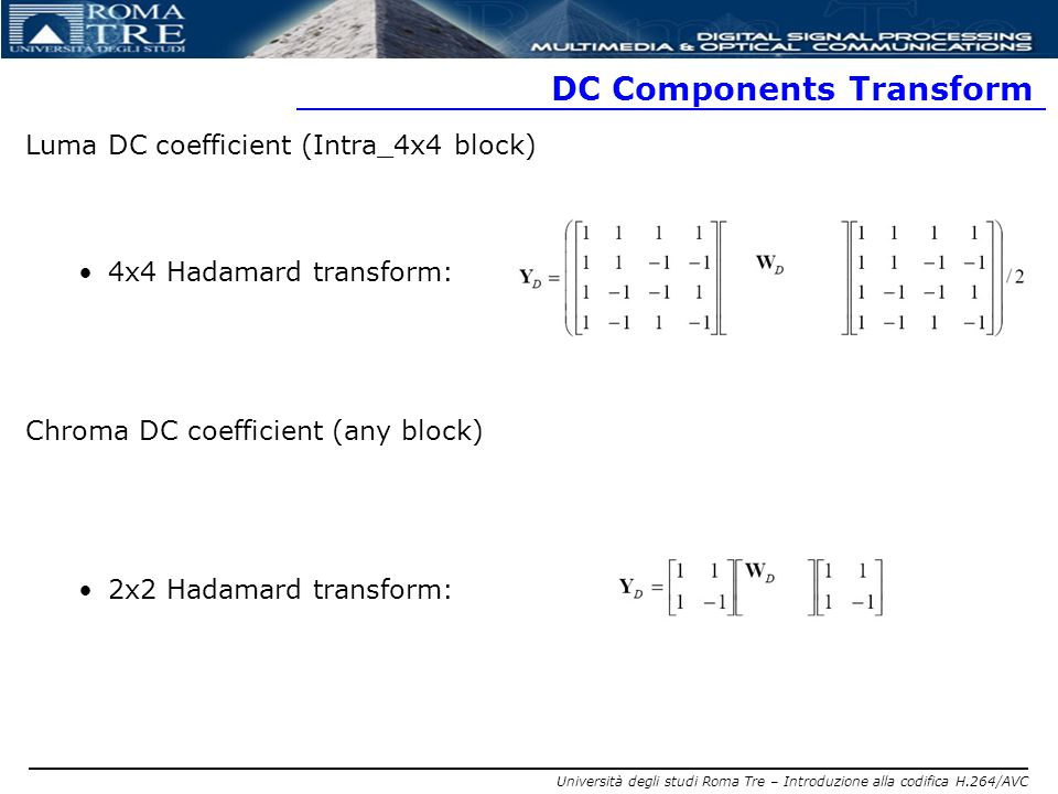 DC Components Transform