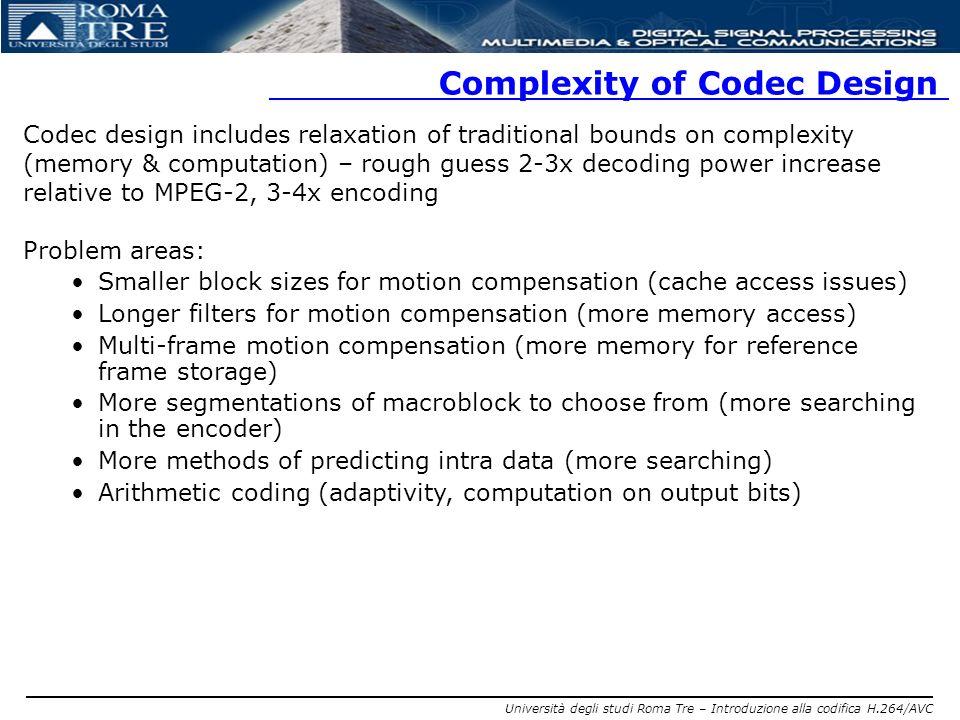 Complexity of Codec Design
