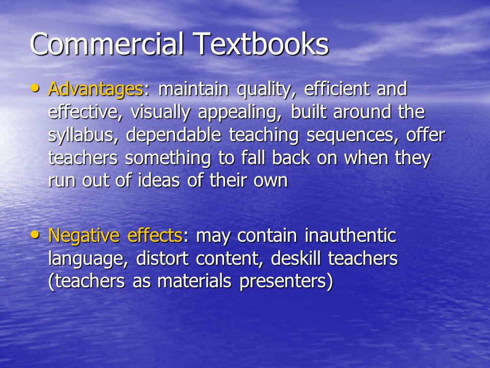 Commercial Textbooks