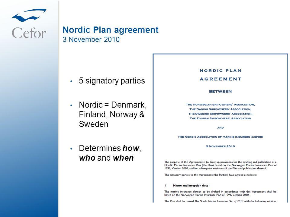 Nordic Plan agreement 3 November 2010