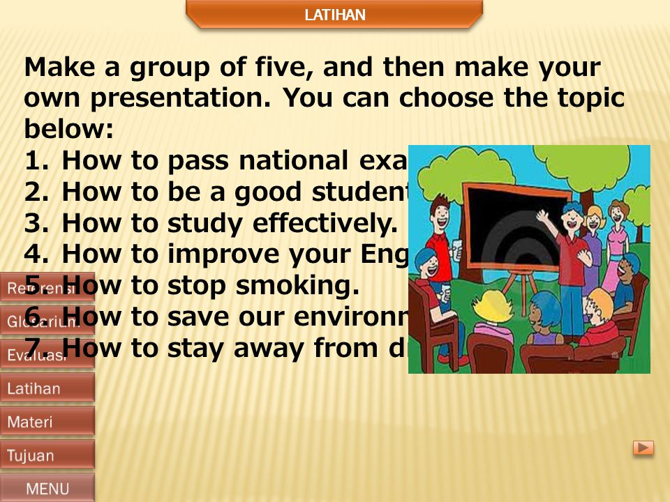 How to pass national examination How to be a good student.