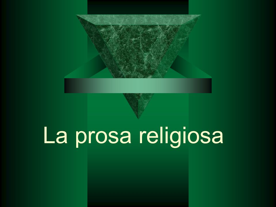 La prosa religiosa