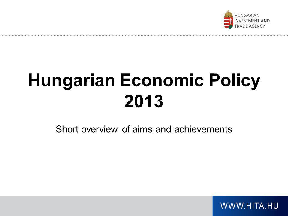 Hungarian Economic Policy 2013
