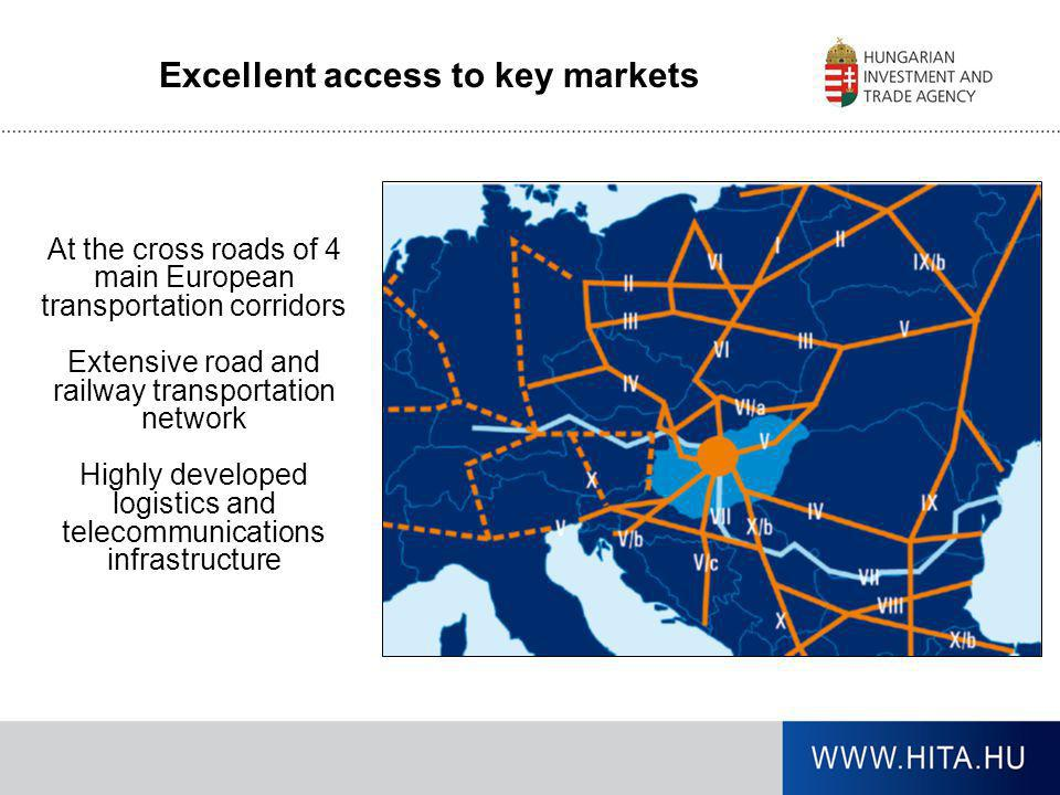 Excellent access to key markets