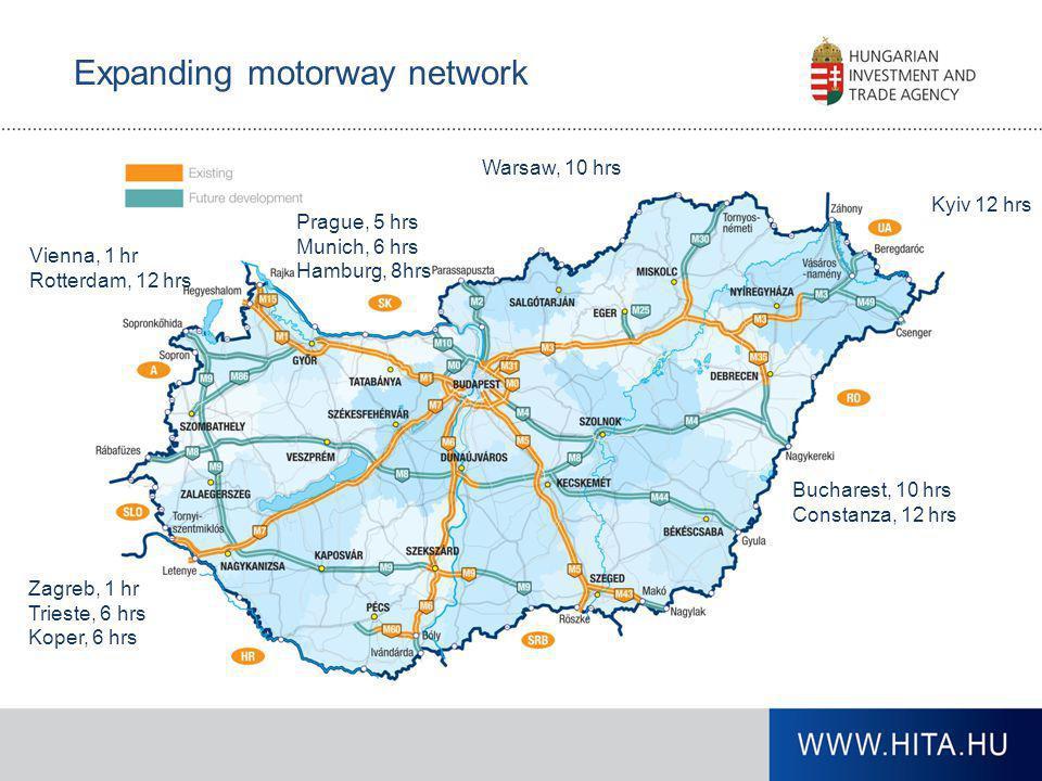 Expanding motorway network