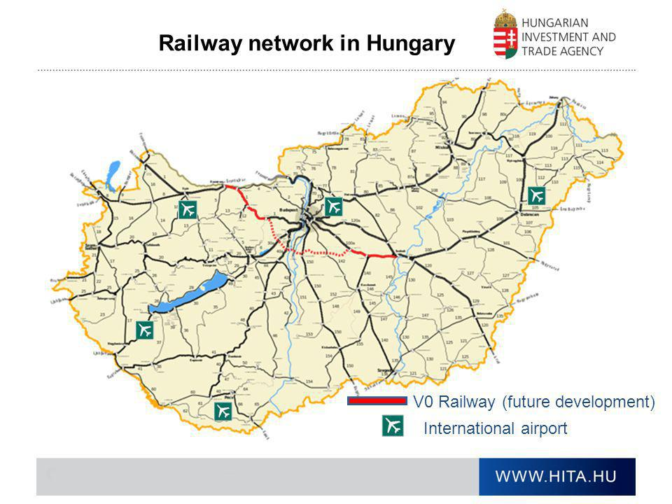 Railway network in Hungary