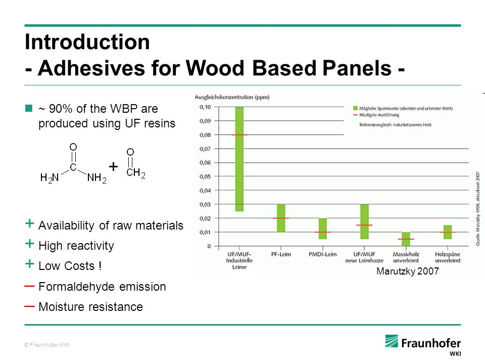 Introduction - Adhesives for Wood Based Panels -
