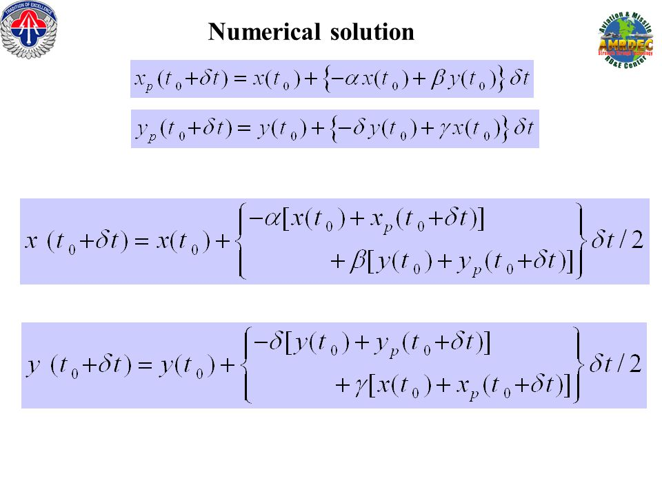 Numerical solution