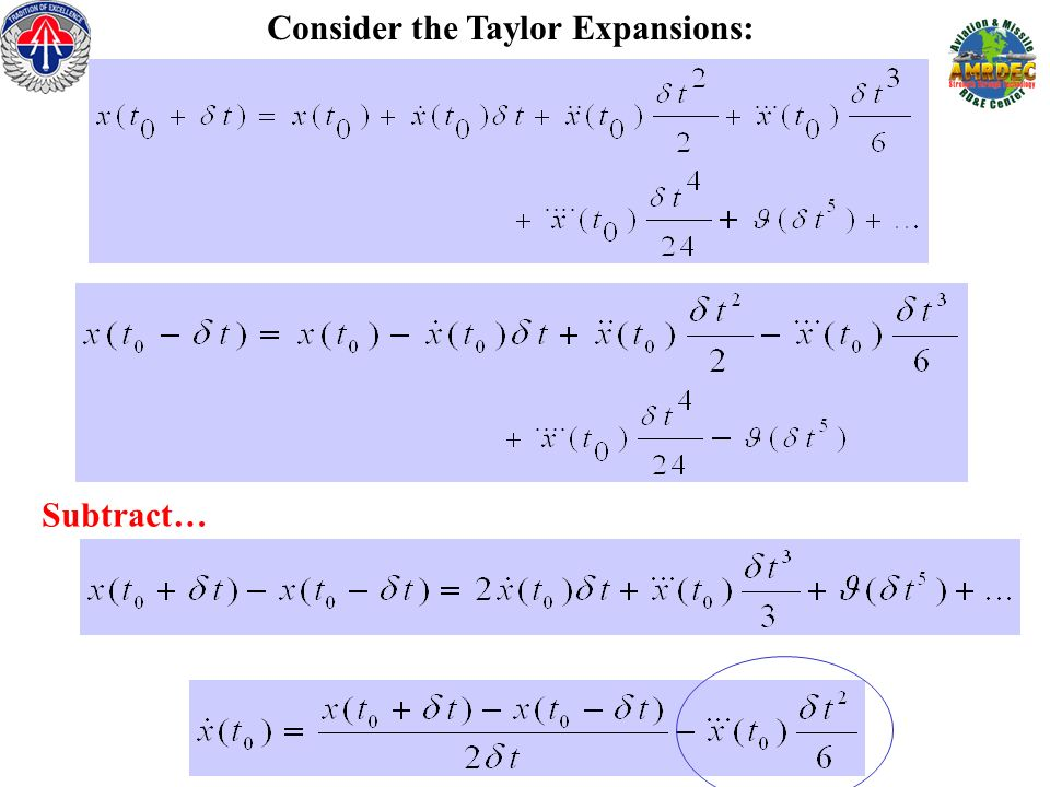 Consider the Taylor Expansions: