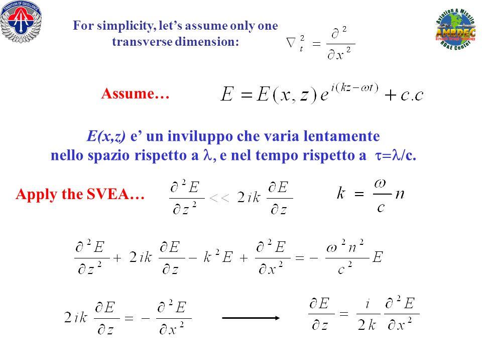 E(x,z) e' un inviluppo che varia lentamente