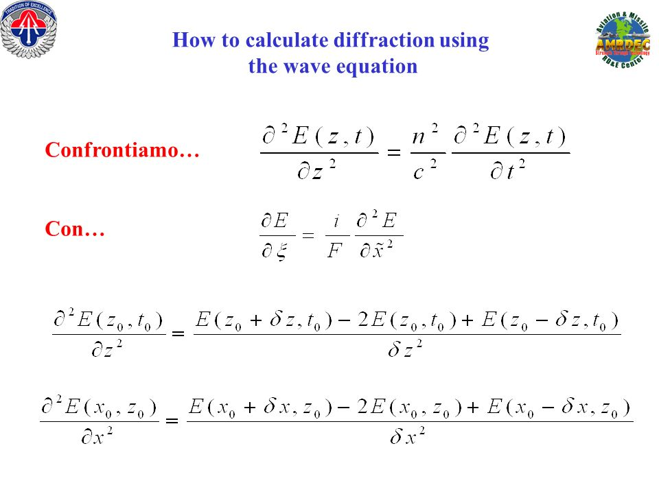How to calculate diffraction using