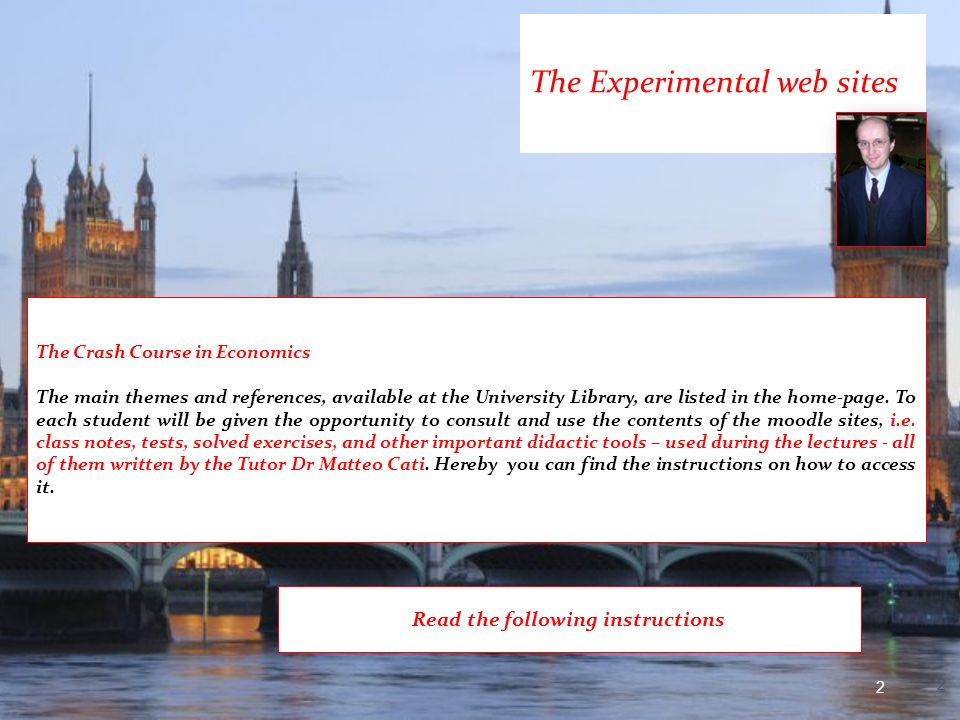 The Experimental web sites