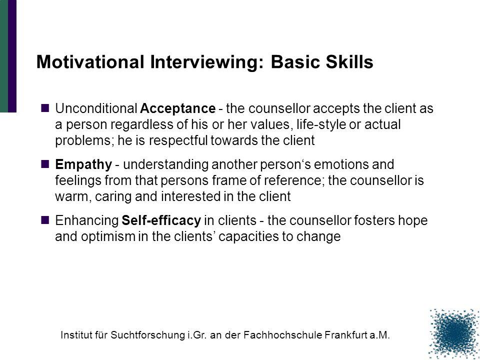 Motivational Interviewing: Basic Skills