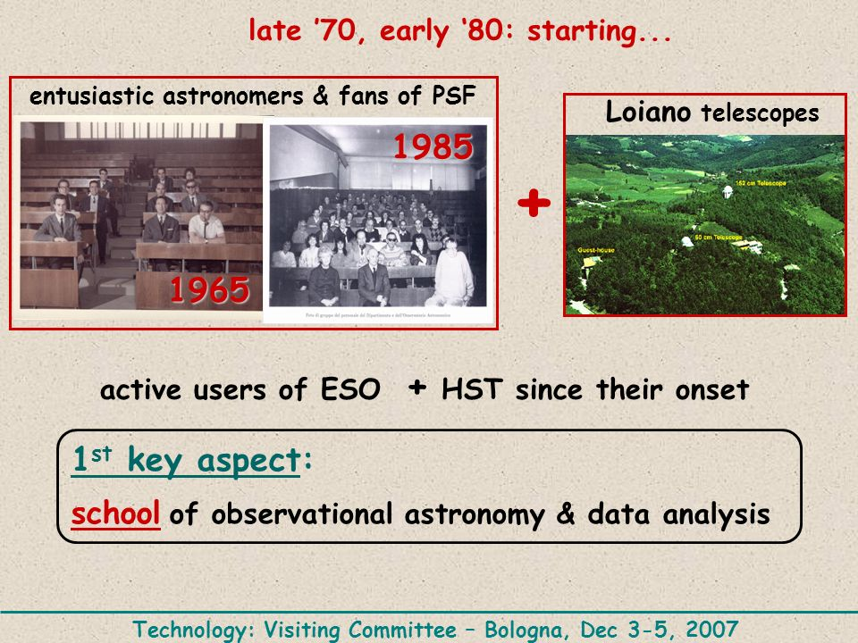late '70, early '80: starting...