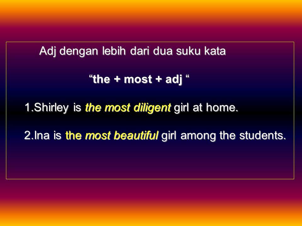 Adj dengan lebih dari dua suku kata