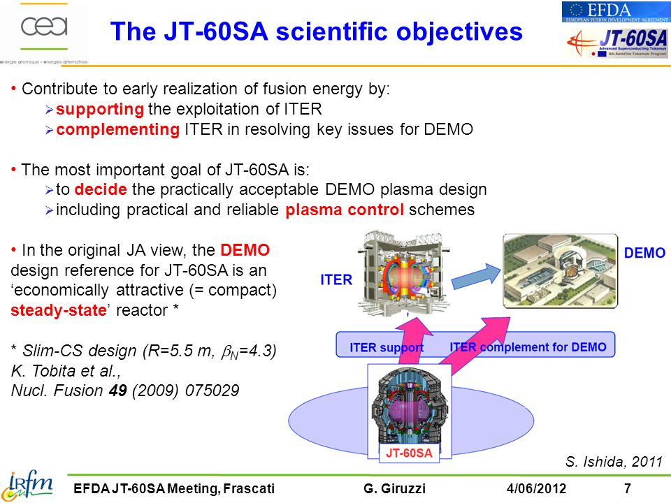 The JT-60SA scientific objectives