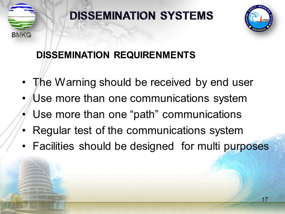 DISSEMINATION SYSTEMS