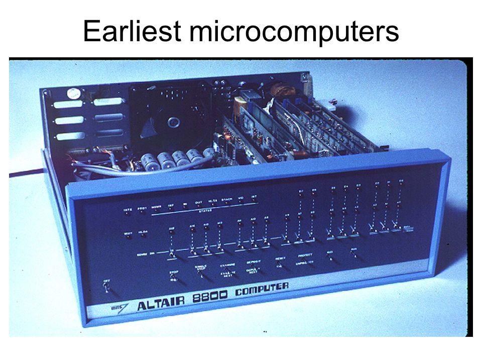 Earliest microcomputers