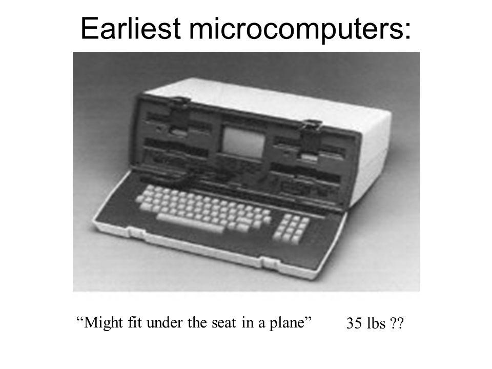 Earliest microcomputers: Portable