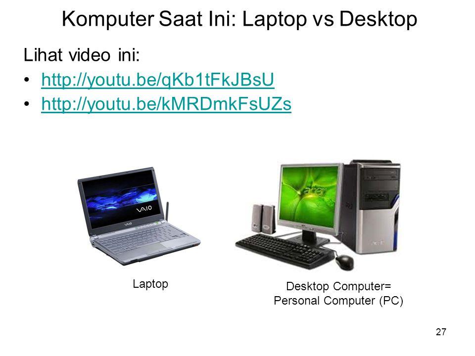 Komputer Saat Ini: Laptop vs Desktop