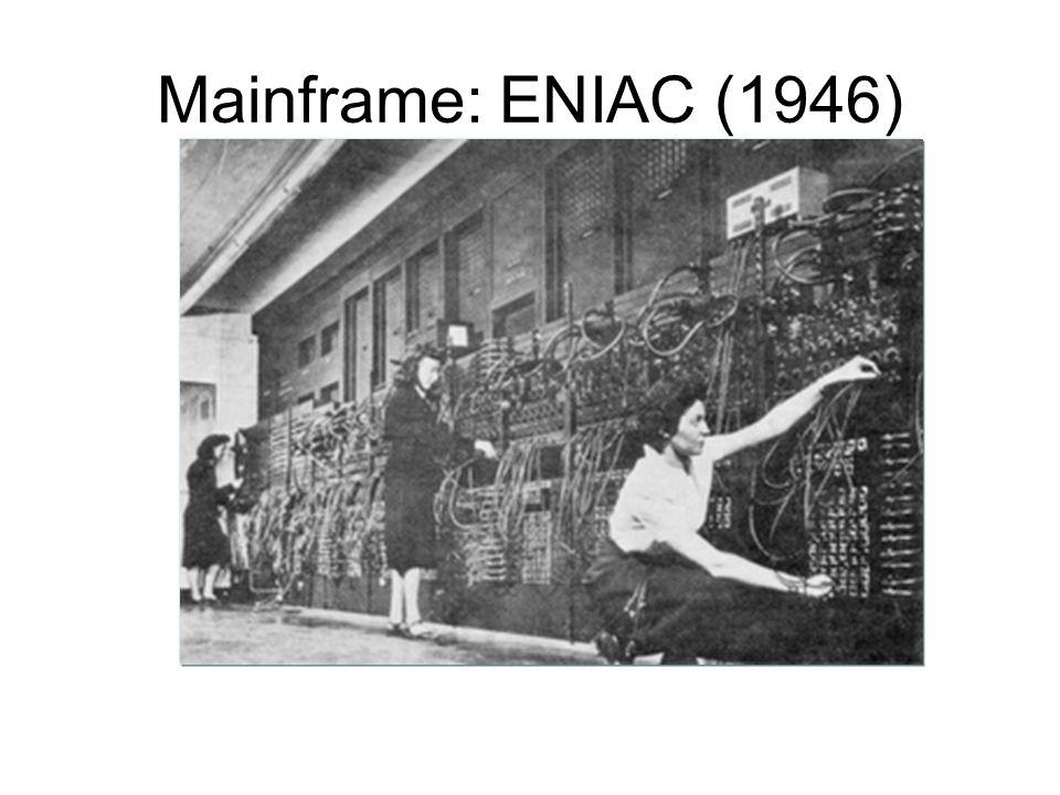 Mainframe: ENIAC (1946)