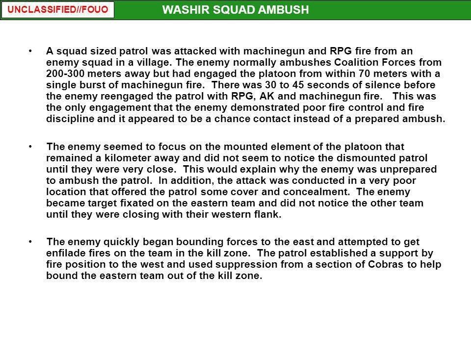 WASHIR SQUAD AMBUSH