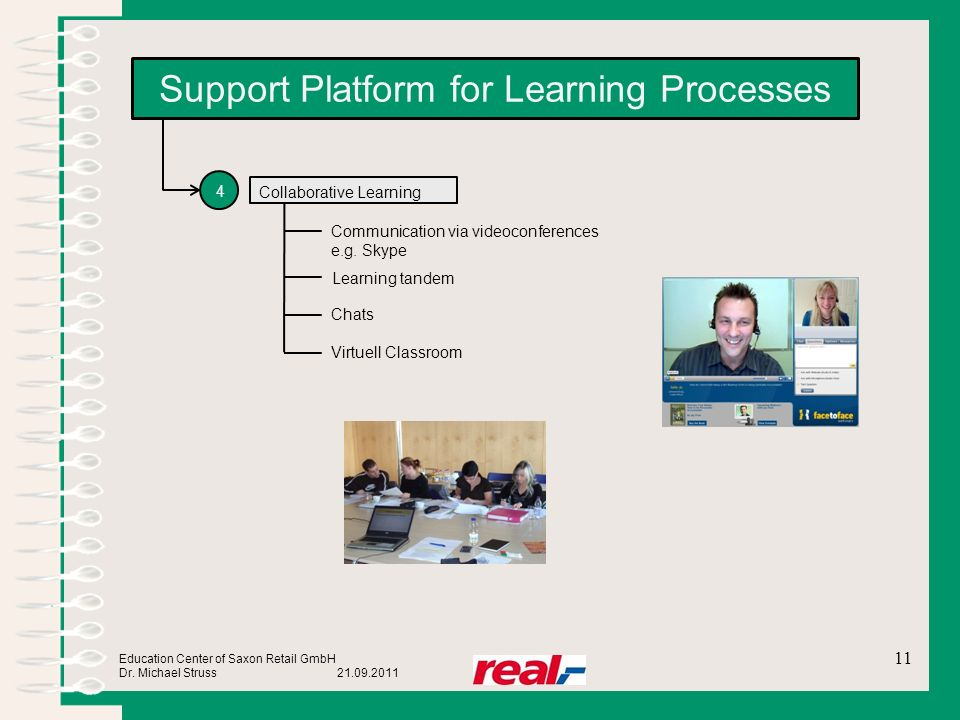Support Platform for Learning Processes