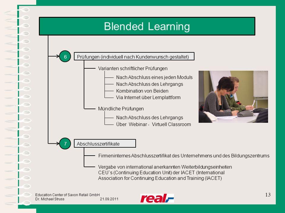 Blended Learning 6 Prüfungen (individuell nach Kundenwunsch gestaltet)