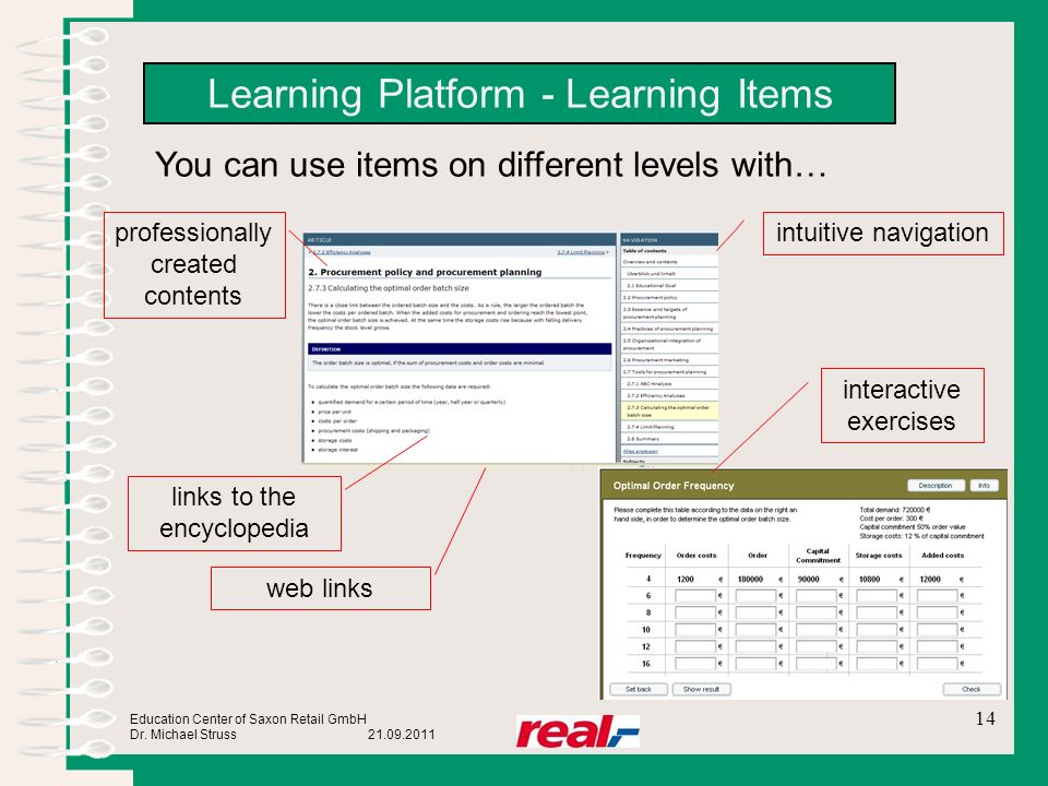 Learning Platform - Learning Items