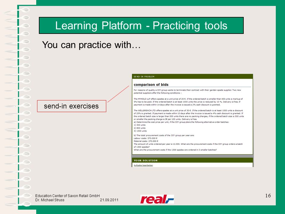 Learning Platform - Practicing tools