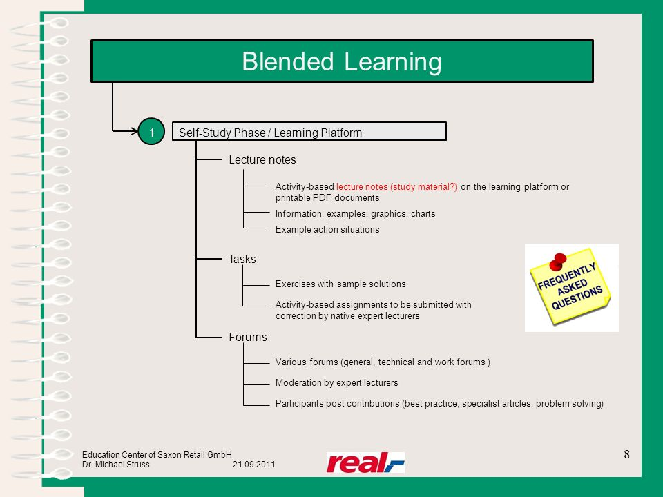Blended Learning 1 Self-Study Phase / Learning Platform Lecture notes