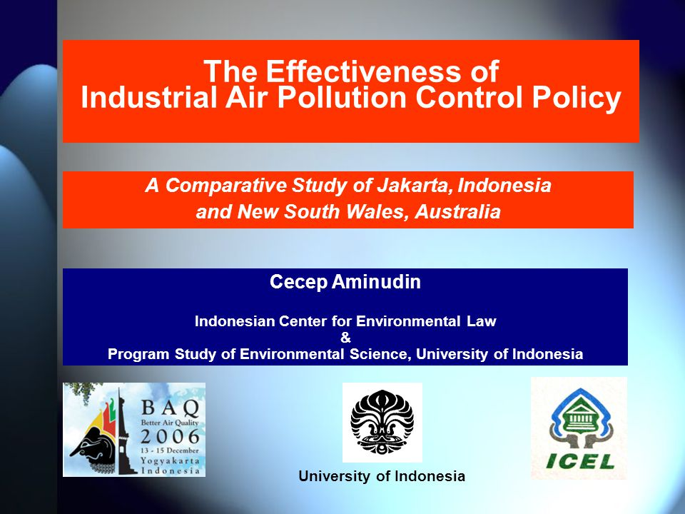 The Effectiveness of Industrial Air Pollution Control Policy