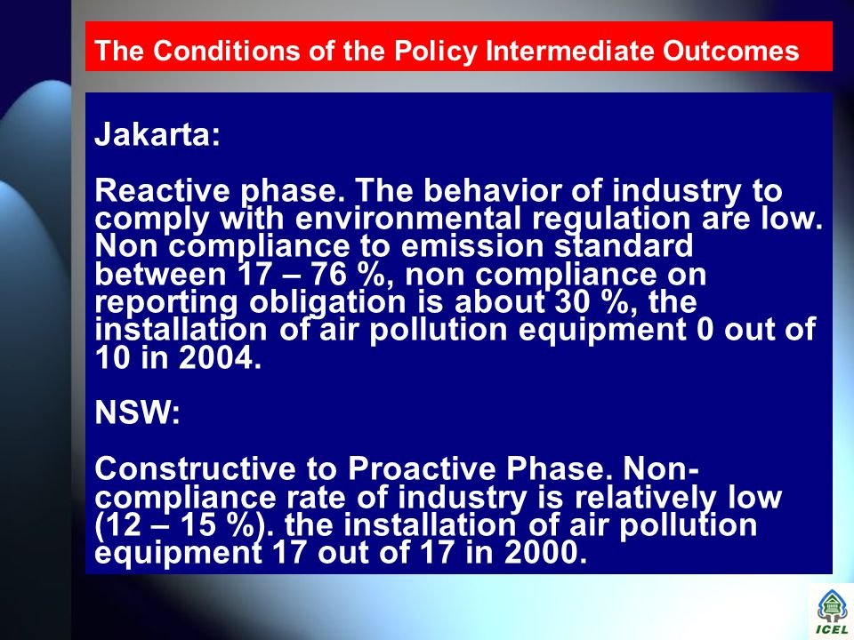 The Conditions of the Policy Intermediate Outcomes