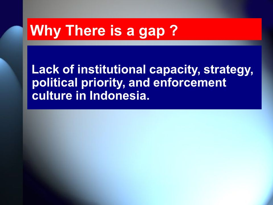 Why There is a gap .
