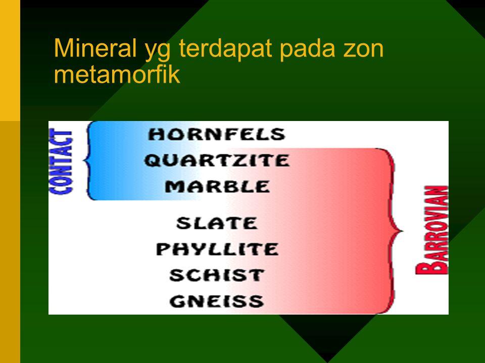 Mineral yg terdapat pada zon metamorfik