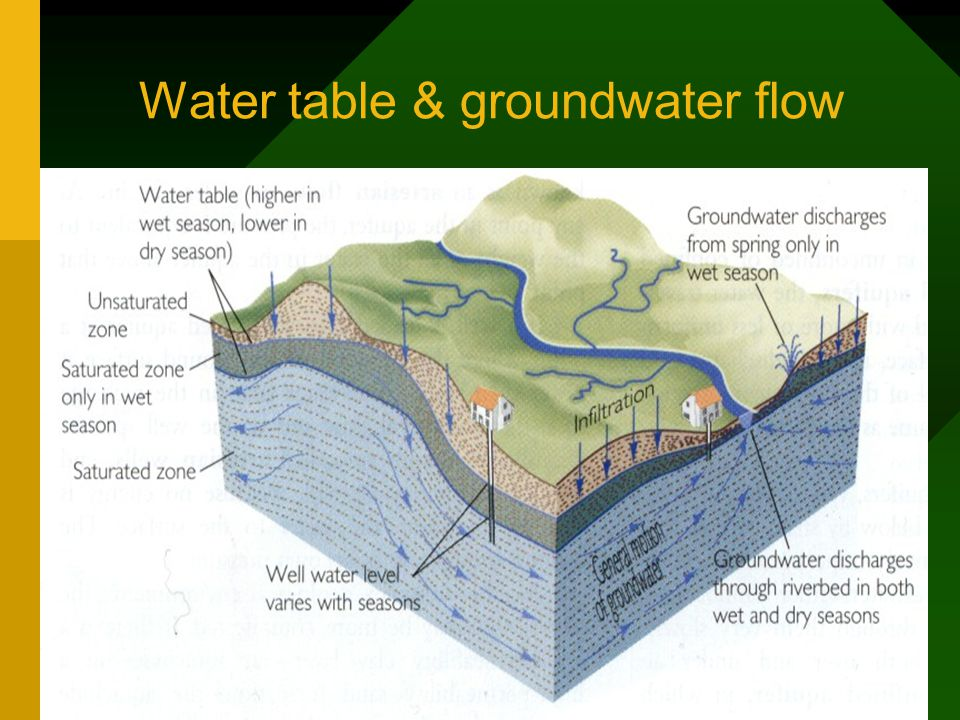 Water table & groundwater flow
