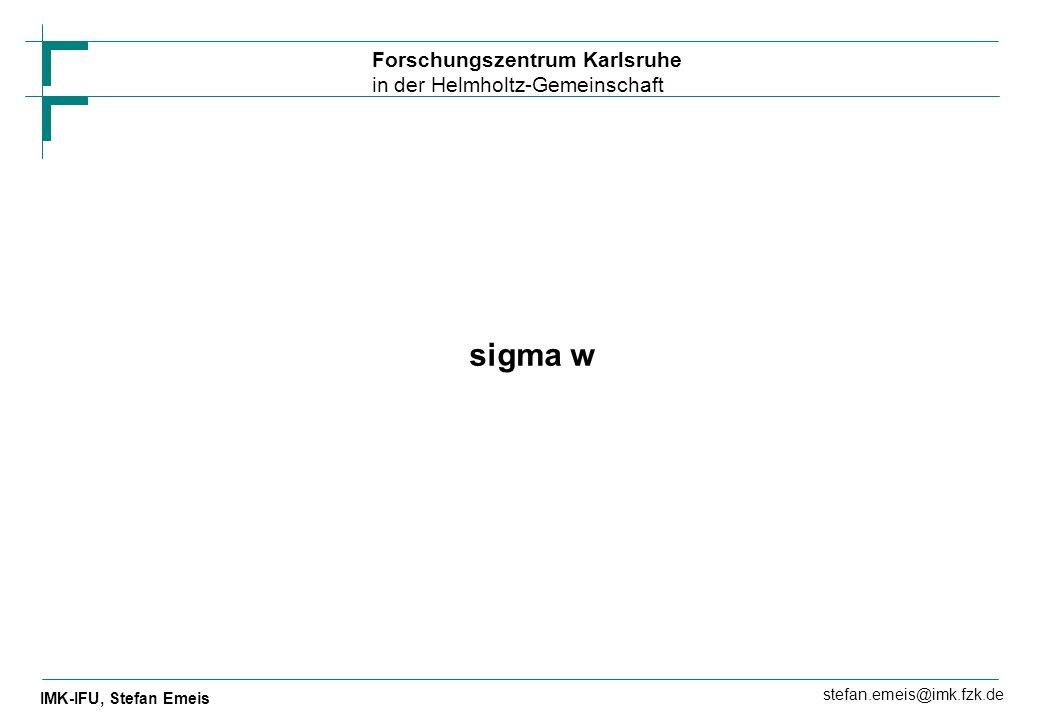 sigma w
