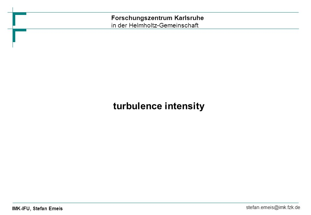 turbulence intensity