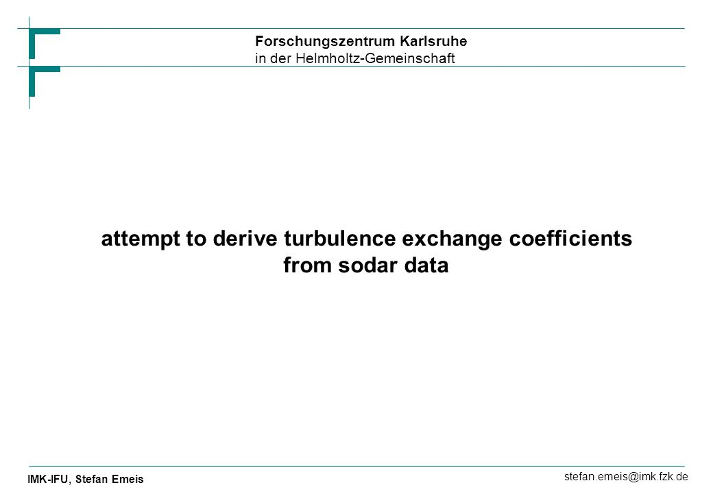 attempt to derive turbulence exchange coefficients