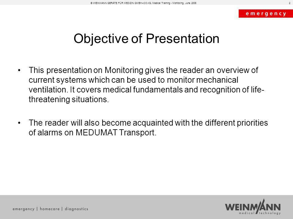 Objective of Presentation