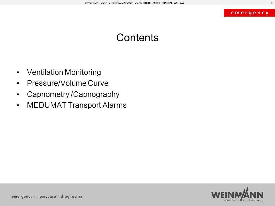 Contents Ventilation Monitoring Pressure/Volume Curve