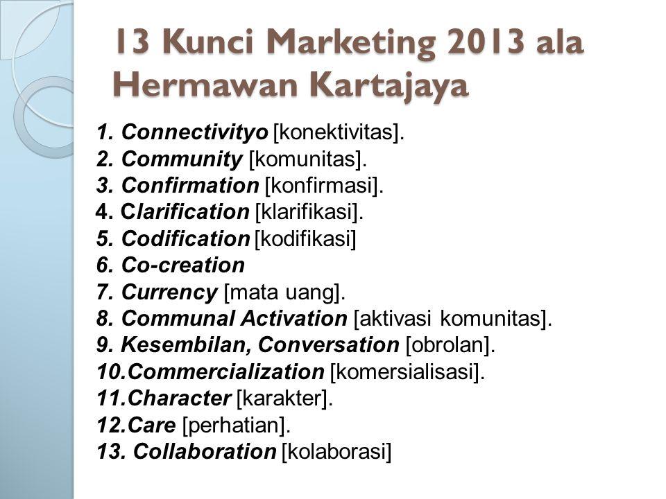 13 Kunci Marketing 2013 ala Hermawan Kartajaya
