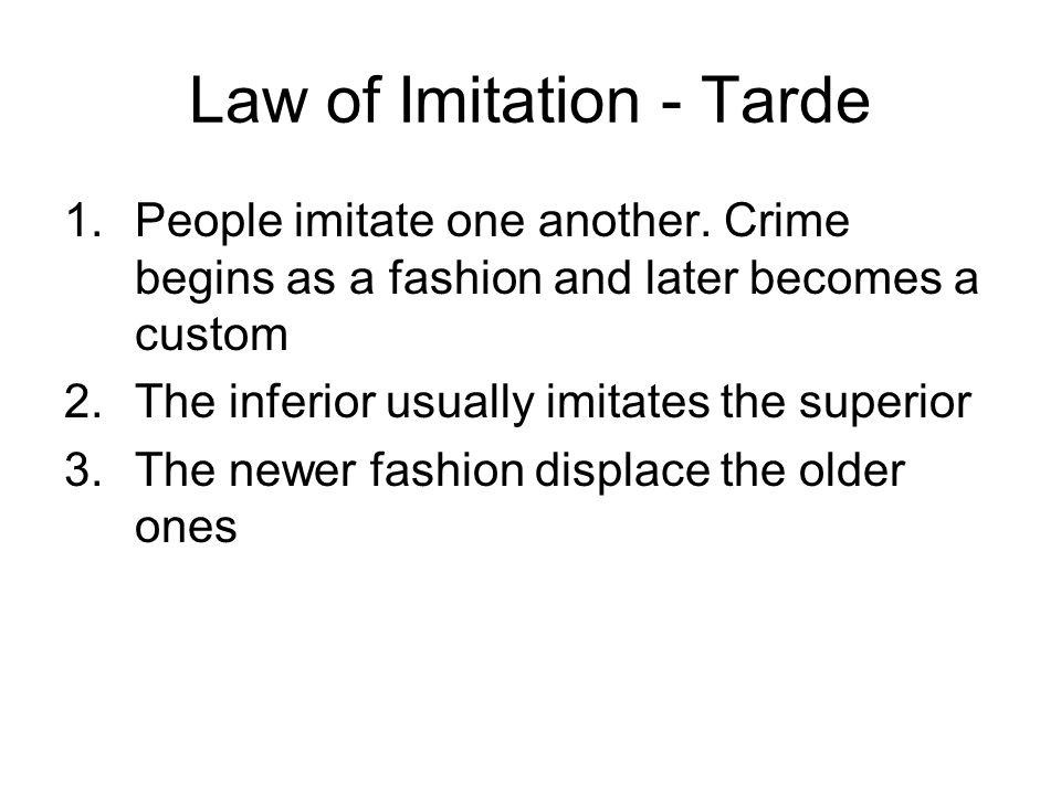 Law of Imitation - Tarde