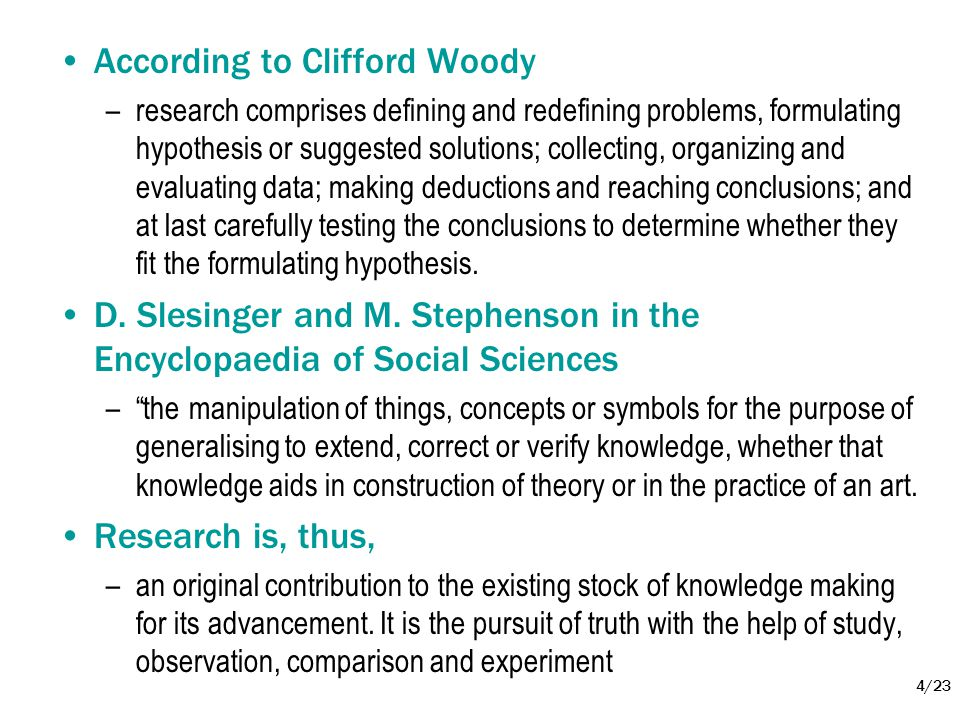 According to Clifford Woody